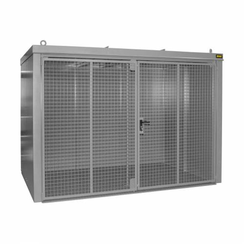 Bauer Gasflaschen-Container GFC-B M5, Mausgrau für 96x Gasflaschen Ø 230 mm