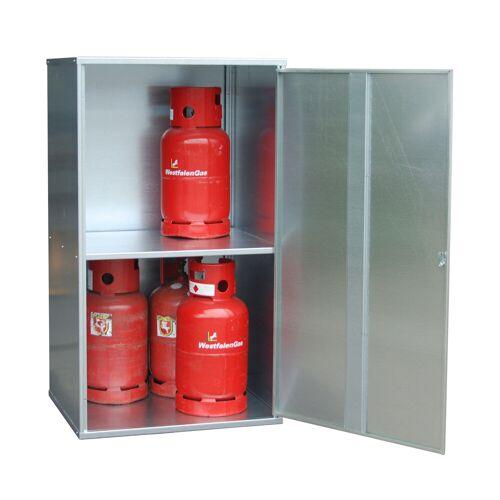 Bauer Gasflaschen-Depot GFD-G 1, verzinkt, 1 Tür, geschlossen für 10x 11 kg-Gasflaschen