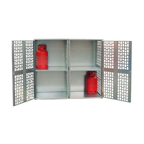 Bauer Gasflaschen-Depot GFD-L 2, verzinkt, 2 Türen, gelocht für 20x 11 kg-Gasflaschen
