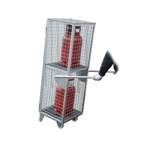 Bauer Gasflaschen-Depot GFD-R 2, feuerverzinkt, 2 Türen, Drahtgitter für 2x 11 kg-Gasflaschen