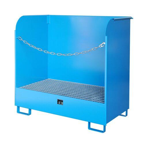 Bauer Gefahrstoff-Depot GD-A für Innenbereich mit Spritzschutzwand, Lichtblau