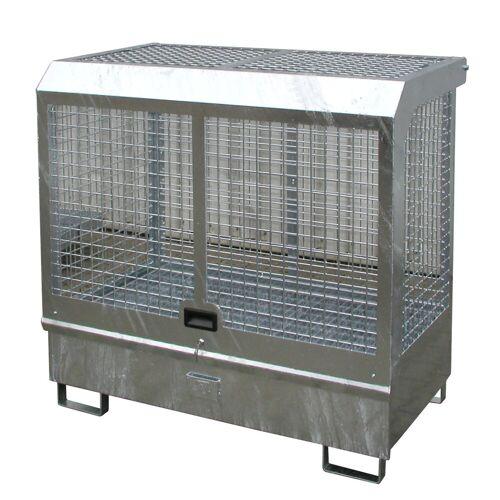 Bauer Gefahrstoff-Depot GD-C für Innenbereich mit Spritzschutzwand und Haube, feuerverzinkt