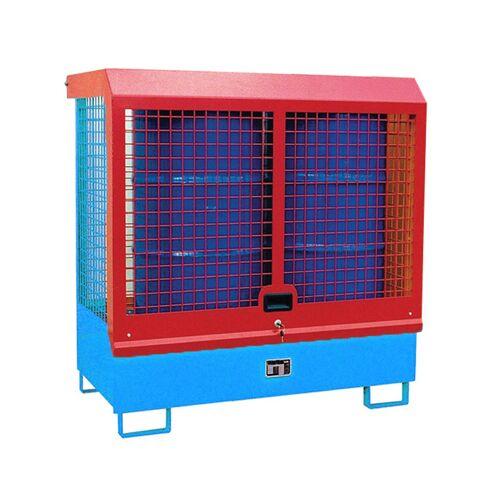 Bauer Gefahrstoff-Depot GD-C für Innenbereich mit Spritzschutzwand und Haube, Lichtblau