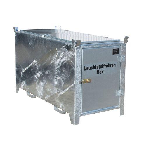 Bauer Leuchtstoffröhren-Box SL-D 150 nach ADR/RID 1.1.3.10c, feuerverzinkt mit verzinkter Tür und Deckel