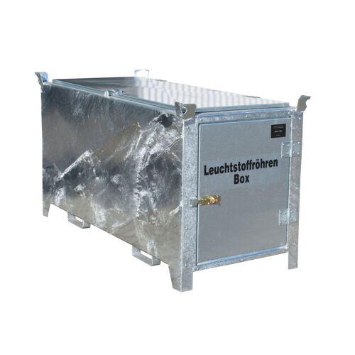 Bauer Leuchtstoffröhren-Box SL-D 200 nach ADR/RID 1.1.3.10c, feuerverzinkt mit verzinkter Tür und Deckel