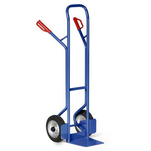 Protaurus Stahlrohr Sackkarre 350kg Traglast Rollenlager Vollgummi 250x60mm