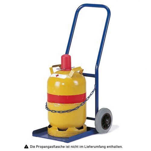 Rollcart Propangasflaschenroller 50kg Traglast für 1 Flasche Ø300mm Vollgummi