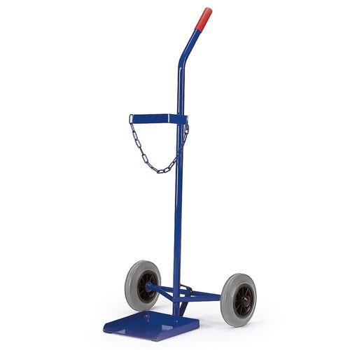 Rollcart Stahlflaschenroller 100kg Traglast für eine 40-50l Flasche Vollgummi