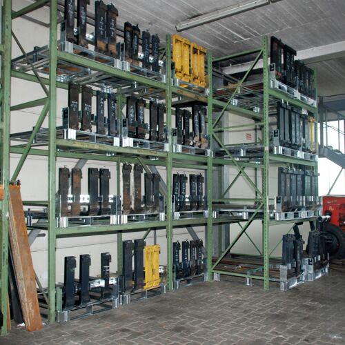 Bauer Gabelzinkenpalette GZP zur Lagerung von 4-8 Gabelzinken