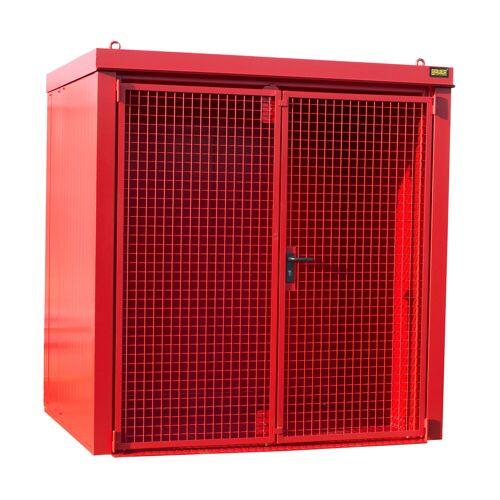 Bauer Gasflaschen-Container GFC-B M2, Feuerrot für 35x Gasflaschen Ø 230 mm