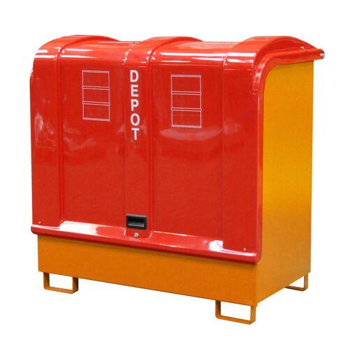 Bauer Gefahrstoff-Depot GD-B für Außenbereich mit Spritzschutzwand und GFK-Haube