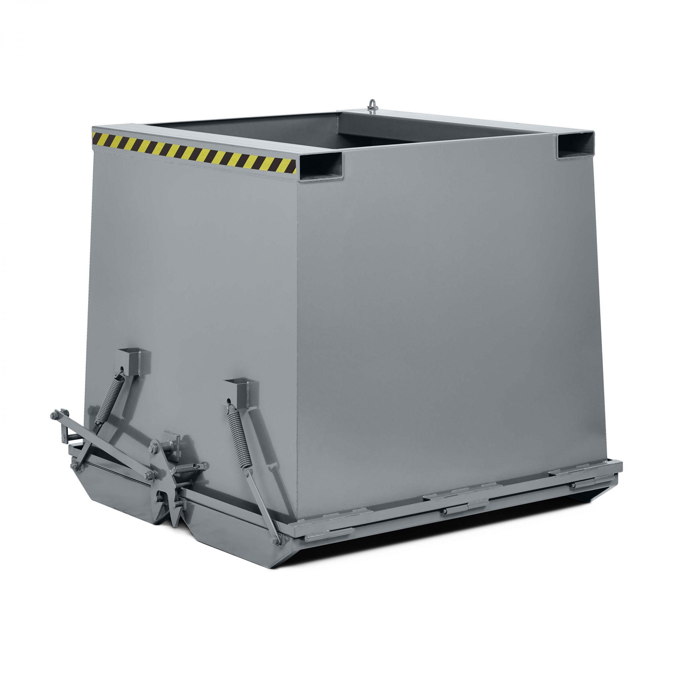 R+R Industrietechnik Schwerlast- Klappbodenbehälter Typ RKC-50 500dm³ RAL 7005 Mausgrau