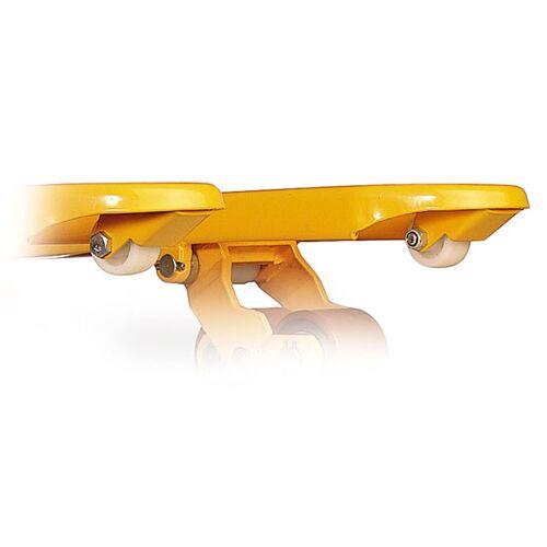 Protaurus Auflaufrollen für Gabelhubwagen aus Vollgummi auf Nylon-Felge 50x50mm