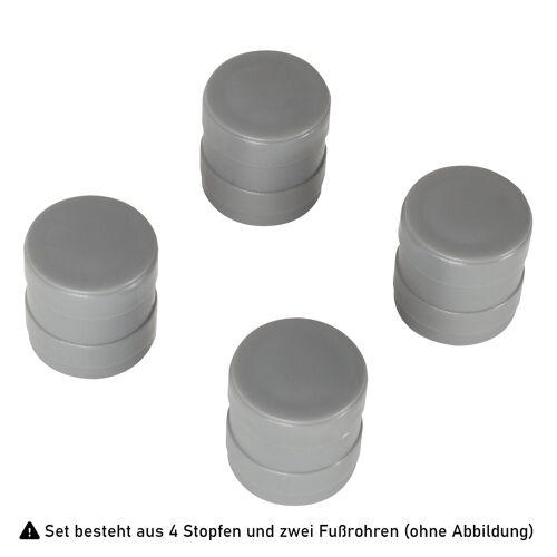 Hailo Set 2x Fußrohr + 4x Stopfen für ProfiLine ASS 120 W / ASS wall