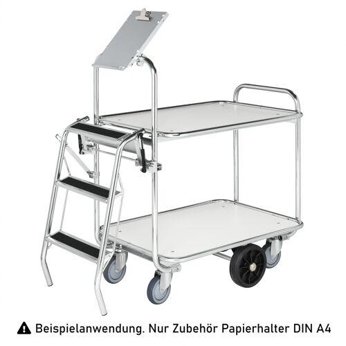 Kongamek Papierhalter DINA4 als Zubehör für Transportwagen