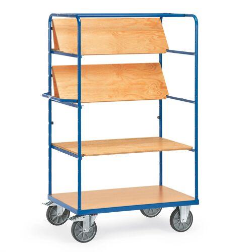 Fetra Etagenwagen mit faltbaren Etagenböden 4 Etagen 1200x800