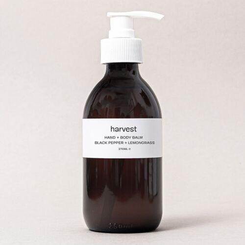 Balsam für Hände und Körper - Schwarzer Pfeffer und Lemongrass