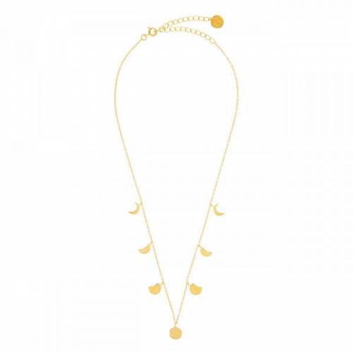 Mondphasen Halskette - Gold