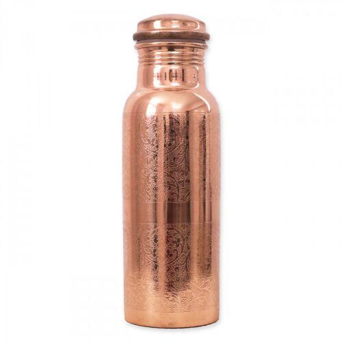 Kupferwasserflasche - Graviert 600 ml