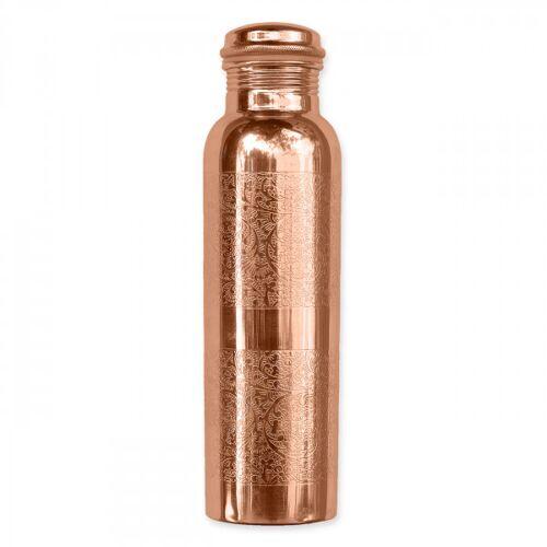 Kupferwasserflasche - Graviert 900 ml