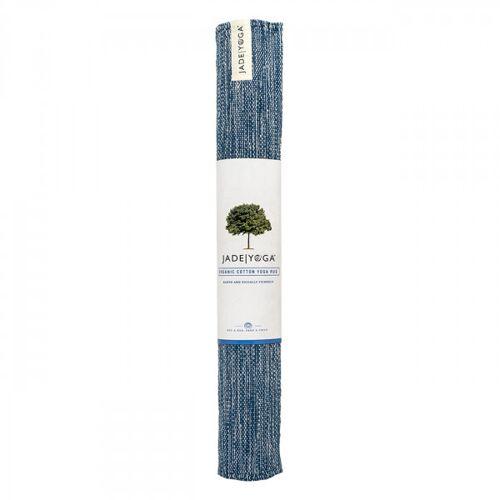 Mysore Yogateppich Bio-Baumwolle - Indigo Blue