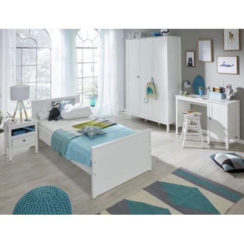 Kinderzimmer / Jugendzimmer komplett Set Ole 4-teilig in Landhaus weiß