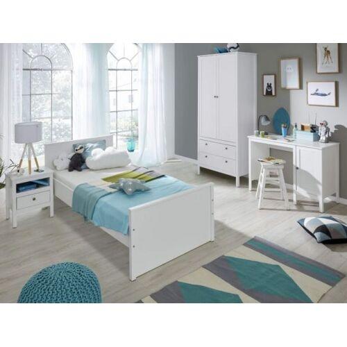 Kinderzimmer Jugendzimmer komplett Set Ole 4-teilig in Landhaus weiß