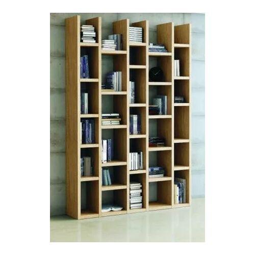 Wohnwand Bücherwand Dekor Eiche Natur