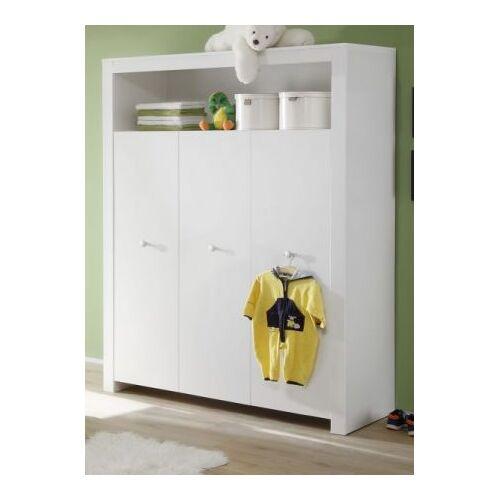 Babyzimmer Kleiderschrank Olivia weiß 130 cm 3-türig