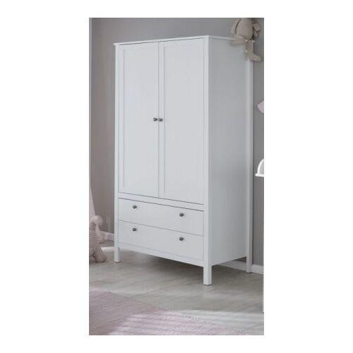 Babyzimmer Kleiderschrank Ole in weiß 91 x 192 cm