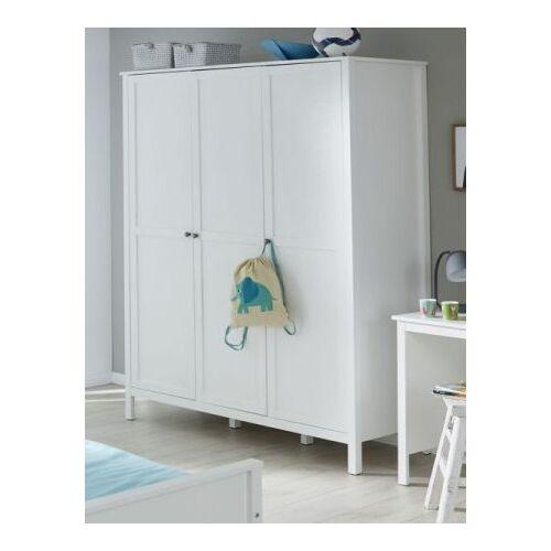 Baby und Kinderzimmer XXL Kleiderschrank Ole weiß 3-türig 140 cm
