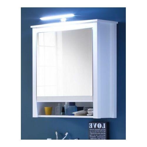 Bad Spiegelschrank Ole weiß Badmöbel 62 x 80 cm