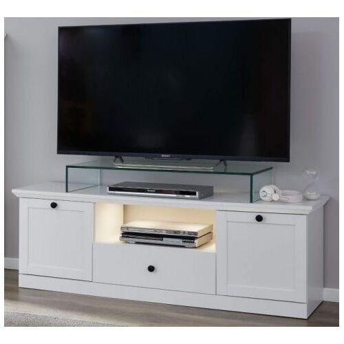 TV-Lowboard Baxter in weiß Landhaus 140 cm