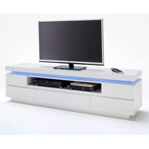 TV-Lowboard Hochglanz weiß 175 cm
