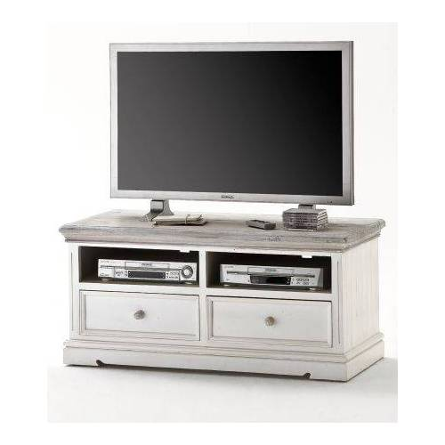 TV-Lowboard Opus Kiefer weiß massiv 121 cm