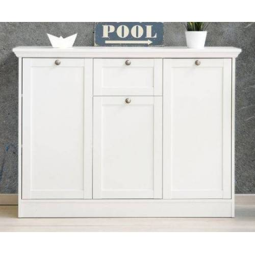 Kommode Landwood weiß 120 x 90 cm