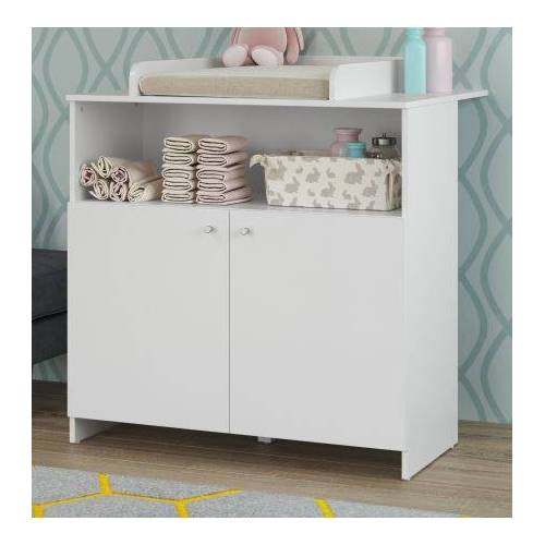 Babyzimmer Wickelkommode Niko in weiß 96 x 103 cm