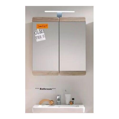 Badezimmer Spiegelschrank Eiche San Remo Malea 65 x 70 cm