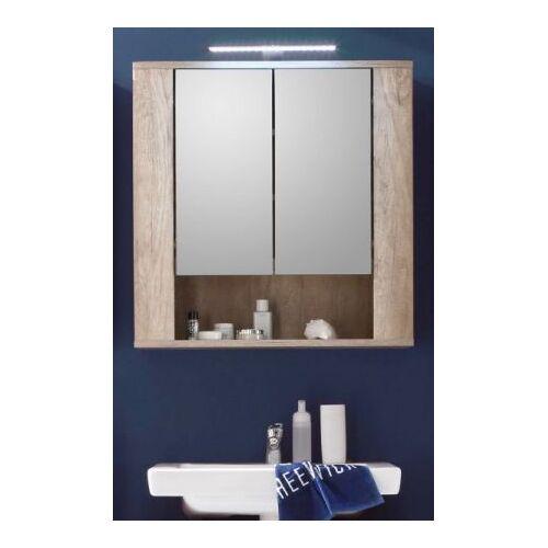 Badmöbel Spiegelschrank Star Eiche hell 70 cm