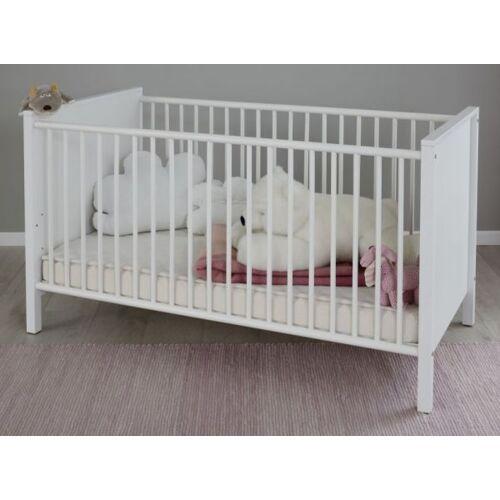 Babyzimmer Babybett inkl. Matratzenrahmen weiß
