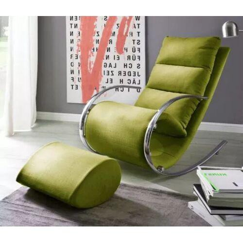 Relaxsessel York grün mit Hocker