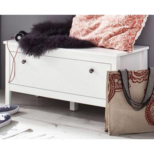 Garderobe Sitzbank Ole weiß 91 cm
