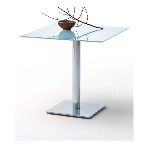 Esstisch Fion Glastisch in weiß 80 cm