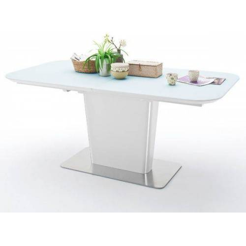 Esstisch Ubora weiß Lack 180 cm Säulentisch