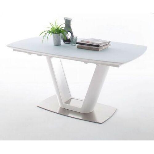 Esstisch Vanita weiß Lack 160 cm Säulentisch