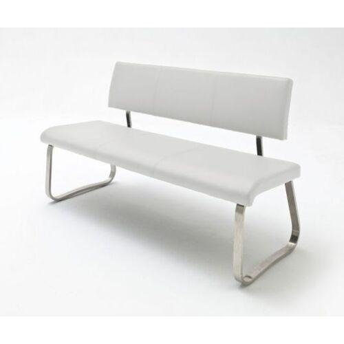 Sitzbank Arco Weiß Kunstleder 155 cm
