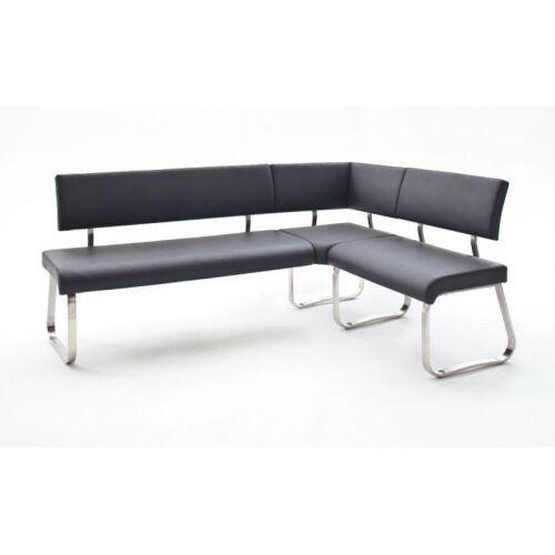 Eckbank Arco Schwarz Leder 200 x 150 cm