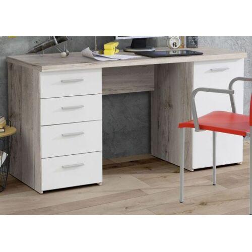 Schreibtisch Net Sandeiche und weiß 145 cm