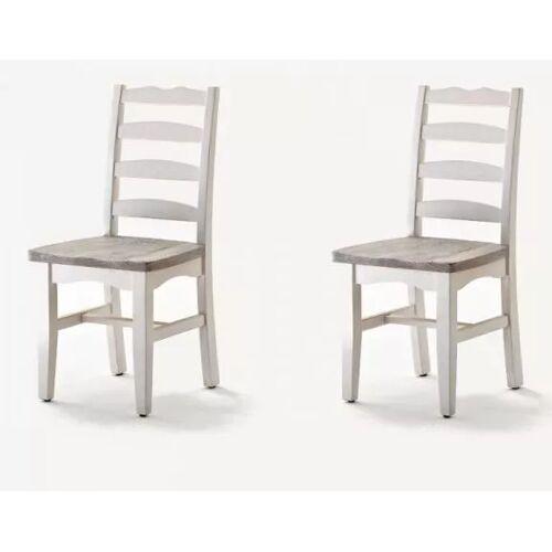 2 x Stuhl Opus Kiefer weiß massiv 48 cm