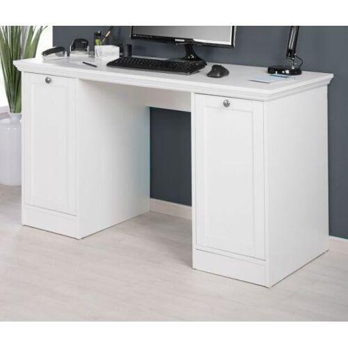 Schreibtisch Landwood weiß 135 x 63 cm